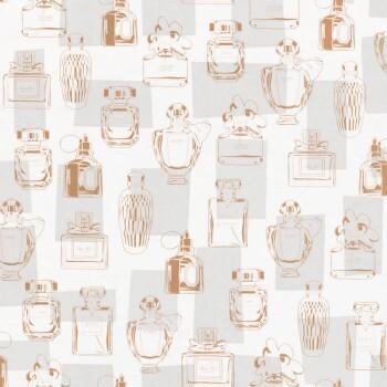 Flacons Mädchen Weiß Bronze Vliestapete
