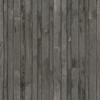 Holzoptik Vliestapete Braun