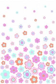 Blumen-Wandbild Pink Xl