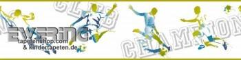 Vinyl-Borte Creme-Weiß Fußball Jungen