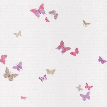 Schmetterlinge Tapete Papier Lila