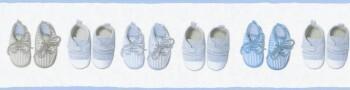 Borte Hell-Blau Vlies Baby Schuhe
