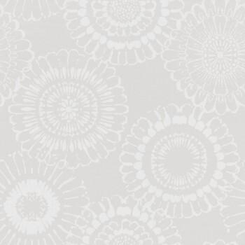 Vliestapete Grau Blumen