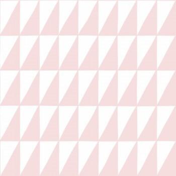 Tapete Rosa Weiße Dreiecke