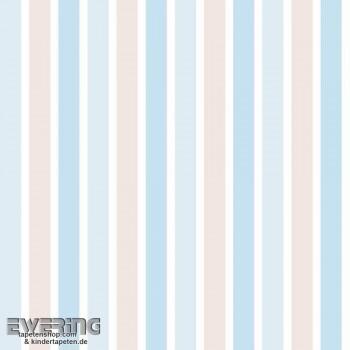 Beige-Blau Streifen