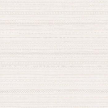 Spitzenmuster Vliestapete Silber Weiß