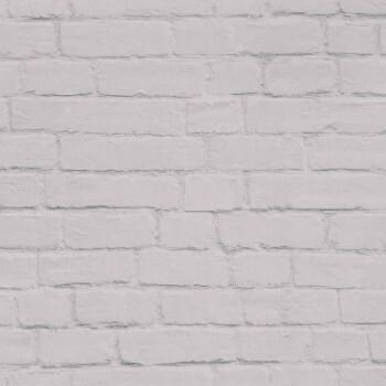 Vliestapete Stein-Grau Maueroptik