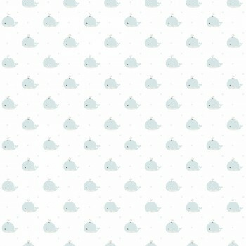 Tapete Wale Graublau-Weiß Lullaby