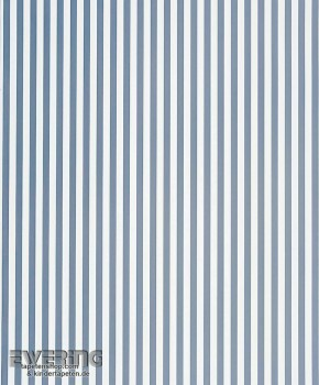 Streifen Papiertapete Jeans-Blau
