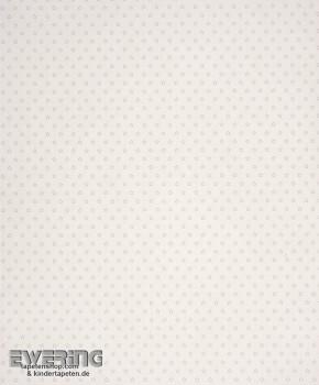 Creme-Weiß Papier-Tapete Sterne