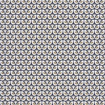 Texdecor Caselio - Hygge 36-HYG100586931 dunkelblau Vogel Tapete