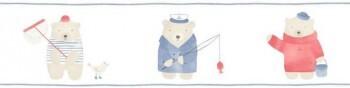 Borte Beige Rot Blau Angel Bären