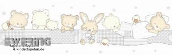 Borte Grau Tiere Babyzimmer