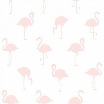 Vliestapete Flamingos Rosa