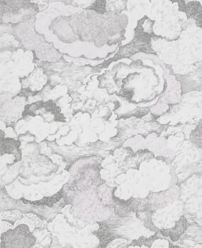 Wolken Vliestapete Rosa