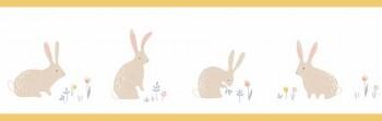 Kaninchen Borte Weiß Gelb