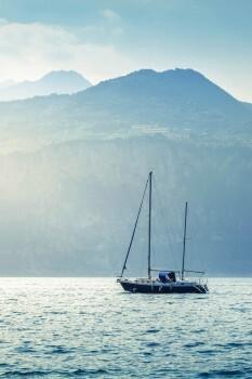 Meer Segelboot Fototapete