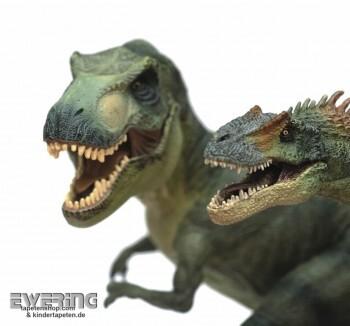 Dinosaurier Wand-Bild Weiß