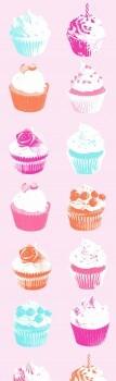 Muffins Rosa Wandbild Xl