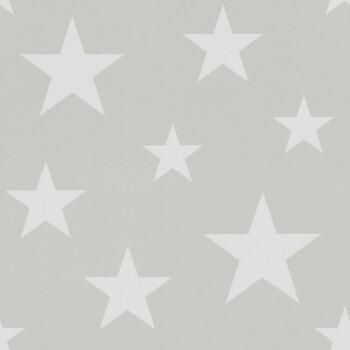 Vliestapete Grau Beige Sterne