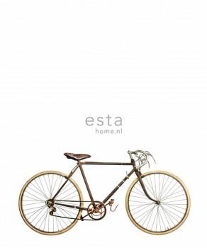 Weiß Wandbild Fahrrad Vlies Wohnzimmer