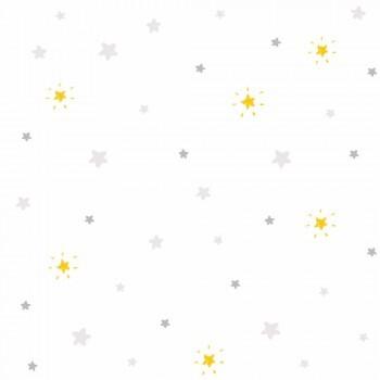 Weiß Tapete Sternchen