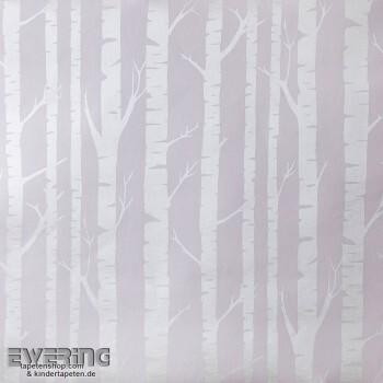 Hell-Lila Bäume Papier