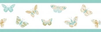 Borte Weiß Mint Schmetterling