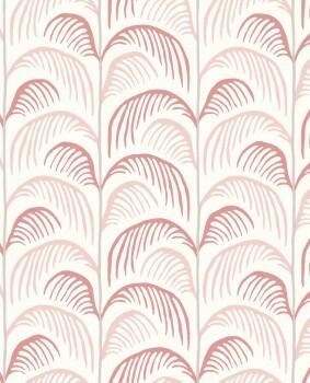 Tapete Rosa Rot Palmen Vintage