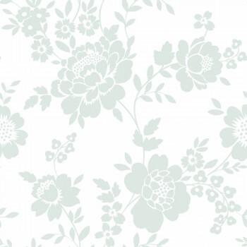 Tapete Blumenranken Mint-Grün