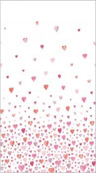 Rosa-Rot Stoff-Paneel Herz