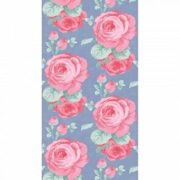 Wandbild Blau Pink Blumen Vlies