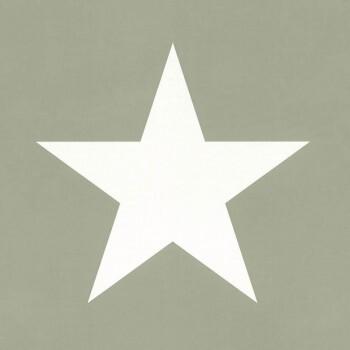 Jadegrün Vliestapete Sterne