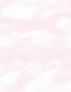 Vlies Tapete Rosa Wolken