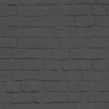 Vliestapete Dunkel-Grau Maueroptik