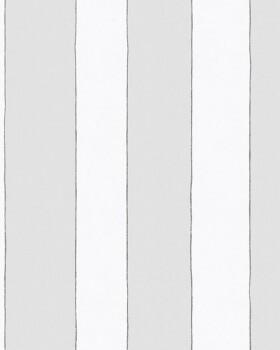 Vliestapete Grau Weiß Streifen