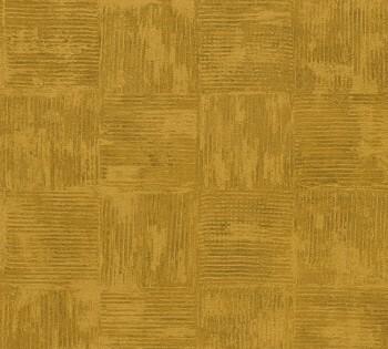33989-4, 339894 Vliestapete Saffiano AS Creation senf-gelb Uni