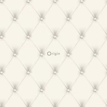 Vliestapete Glänzend Muster Creme-Weiß