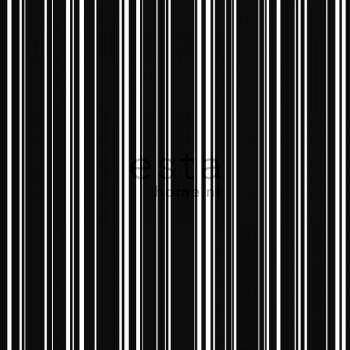 Vliestapete Streifen Schwarz Weiß