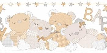 Borte Babyzimmer Vlies Grau-Braun
