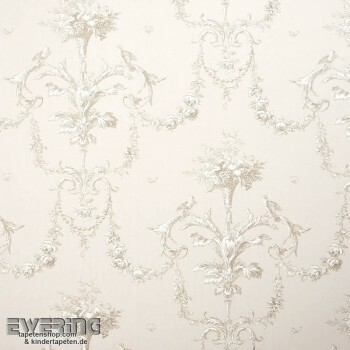 Casadeco - Chantilly 36-CHT15441319 Dekostoff Ornament beige