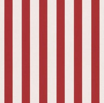 Rot Weiß Streifen Tapete Papier