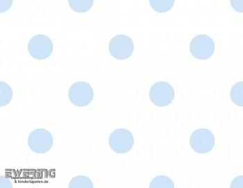 Hell-Blau Punkte Papiertapete