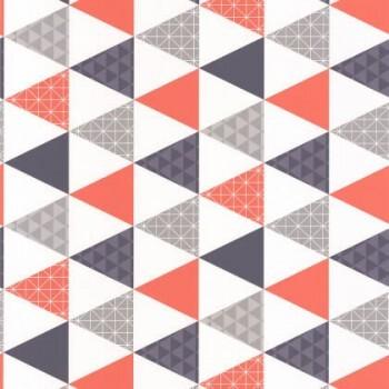 36-TONI69443813 Vliestapete Caselio - Tonic rot-blau Muster Dreicke
