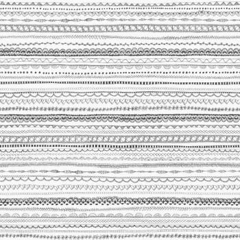 Vliestapete Schwarz-Weiß Linien Mädchen
