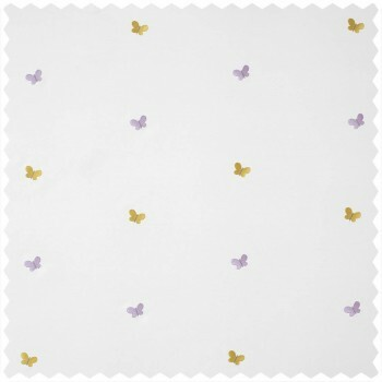 Dekostoff weiß Schmetterling