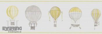 Papier-Borte Heißluftballons Grün