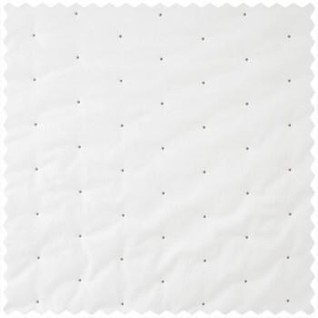 Dekostoff weiß graue Punkte