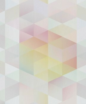 Vliestapete Dreiecke Bunt Pastel