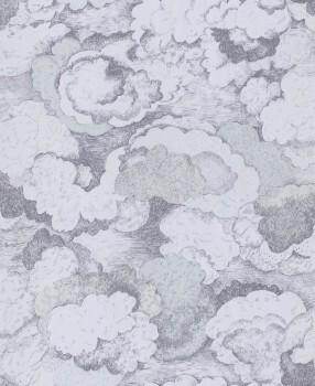 Vliestapete Wolken Blau